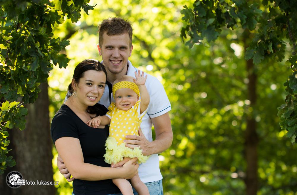 Rodinné foto na podzim Zlín