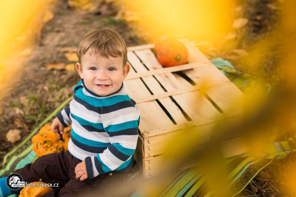 podzimní rodinné foto barvy