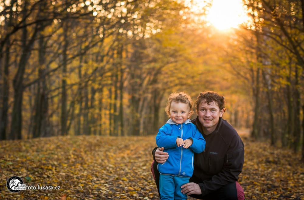 podzimní rodinné foto děti vsetín