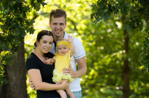 podzimní rodinná fotografie