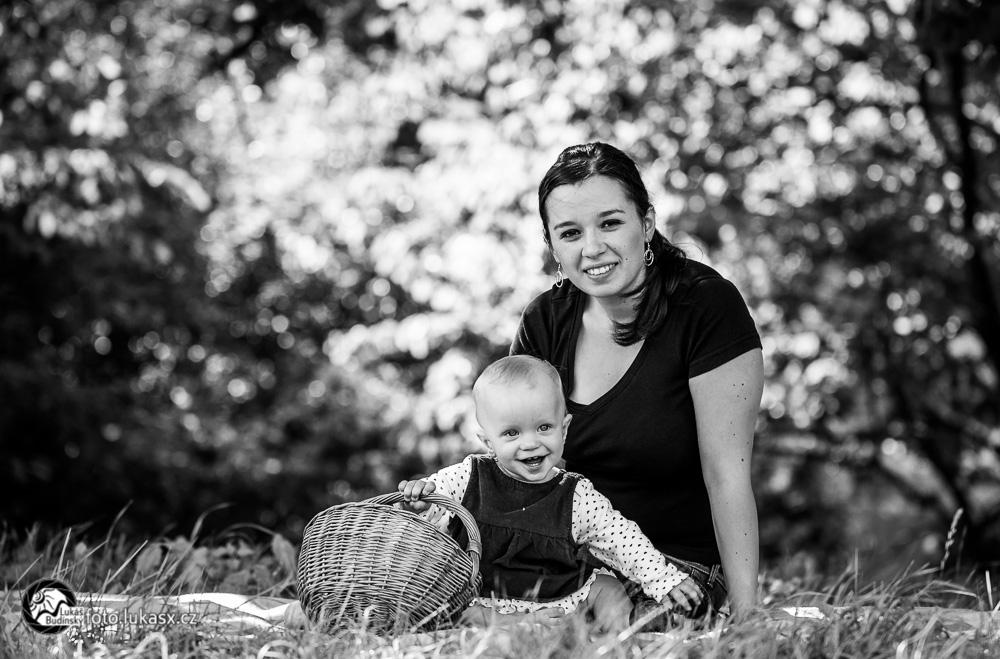 černobílé rodinné foto zlín